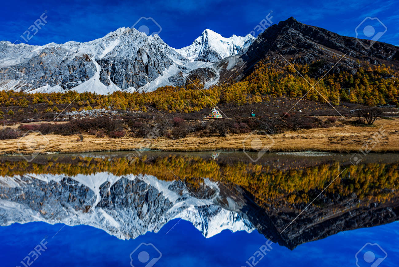 Yading national reserve in Daocheng County, in the southwest of Sichuan Province, China. - 81786390