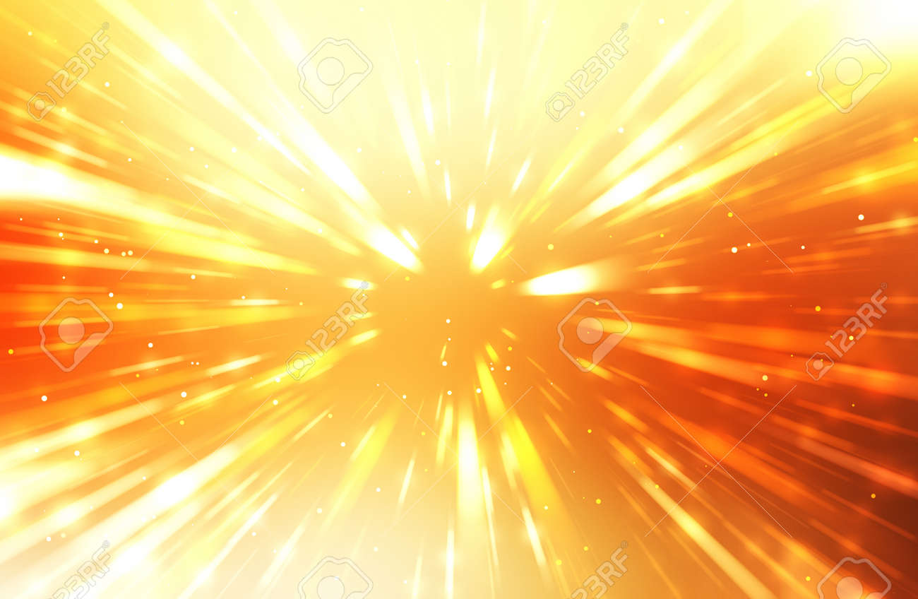 Glossy vibrant and colorful wallpaper. Light explosion star with glowing particles and lines. Beautiful abstract rays background. - 168845729