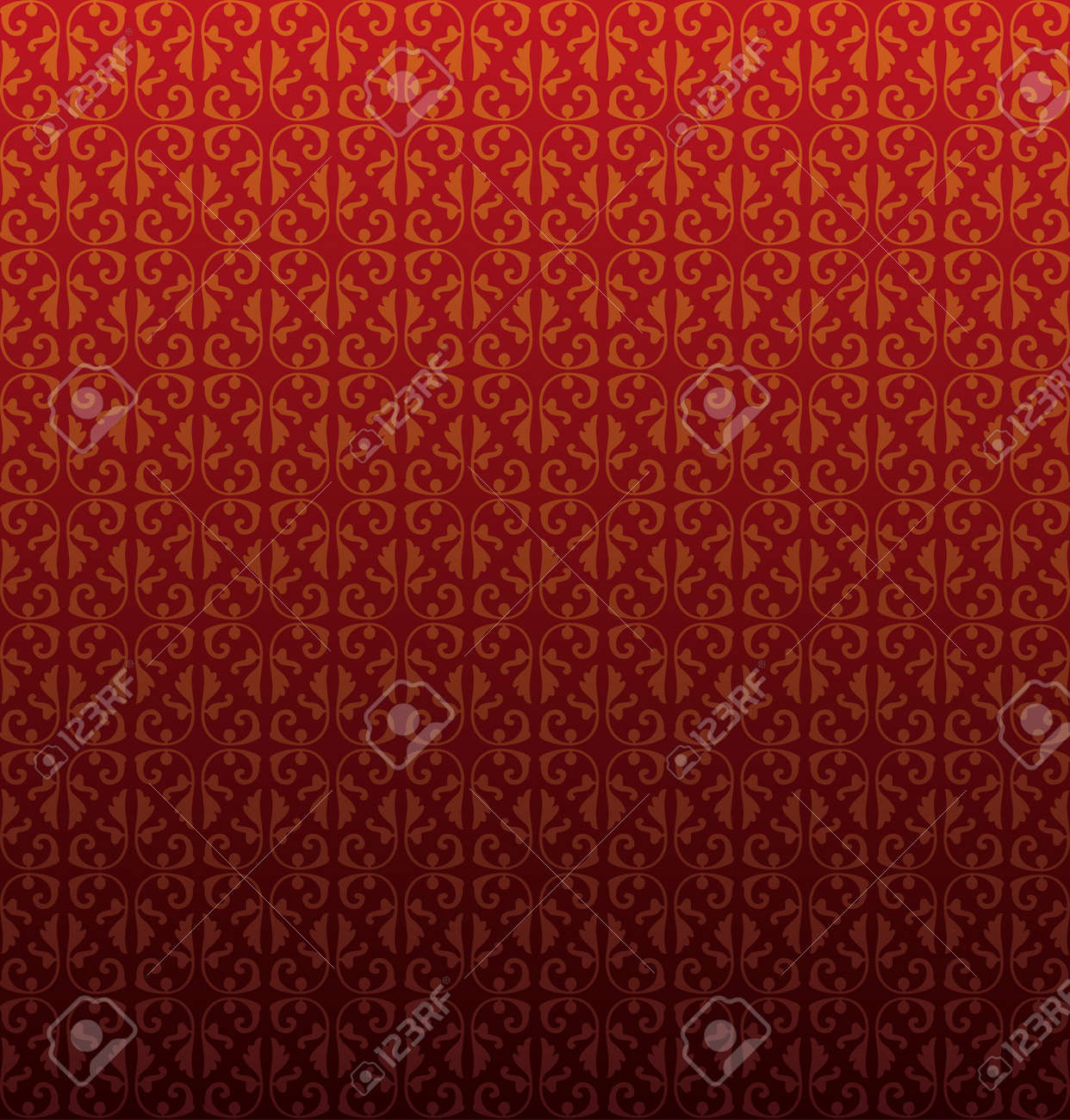 Pattern from decorative elements in a dark red tonality Stock Vector - 9427544