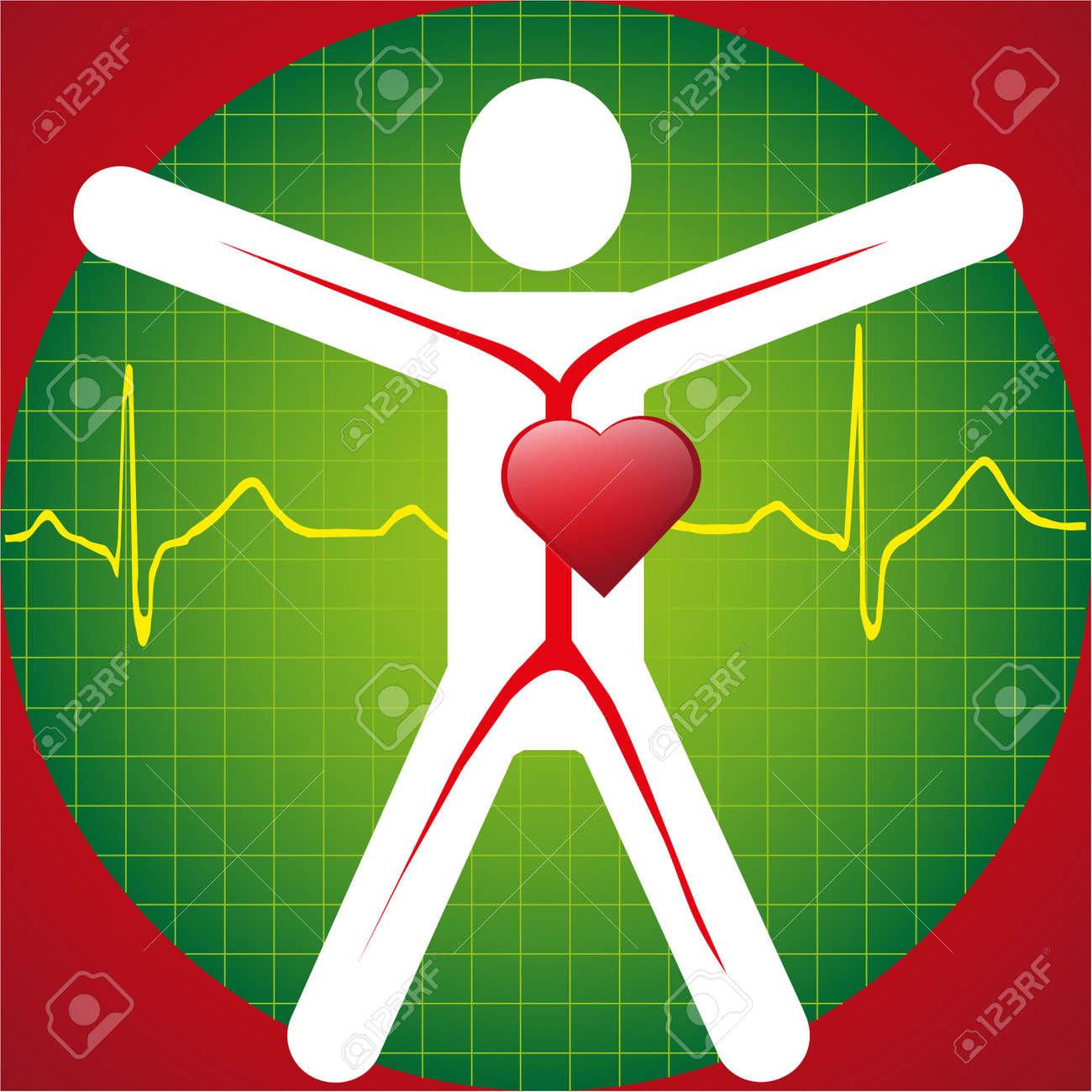 Medical Symbol -ECG Wave Stock Vector - 9636663