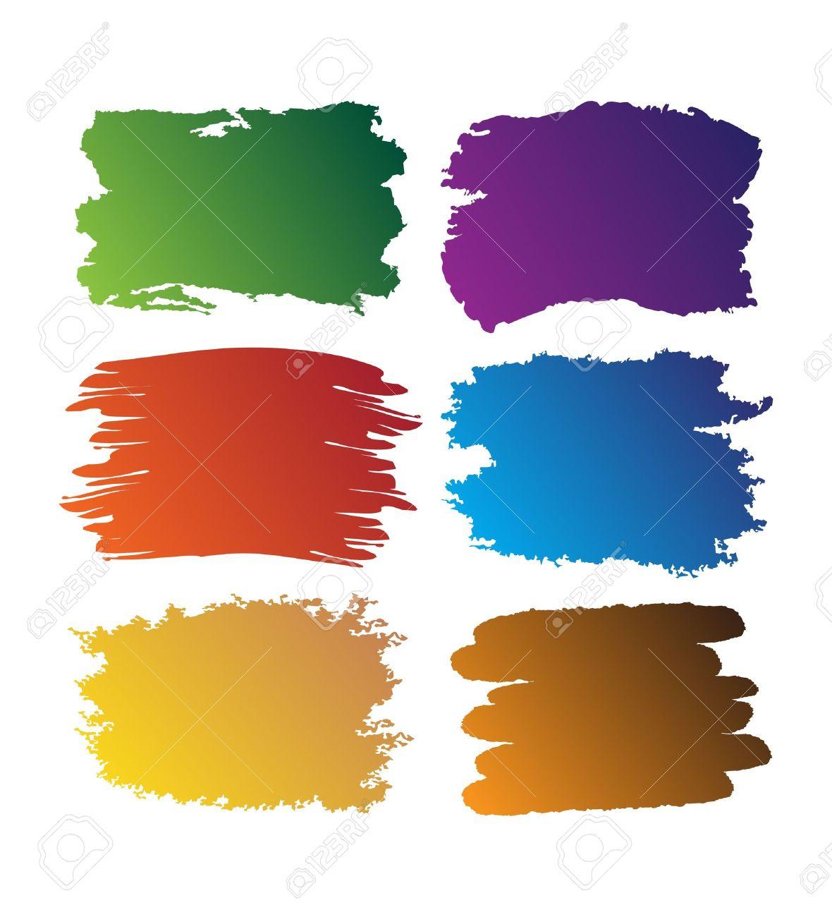 Brush-blot on white background Stock Vector - 10559652