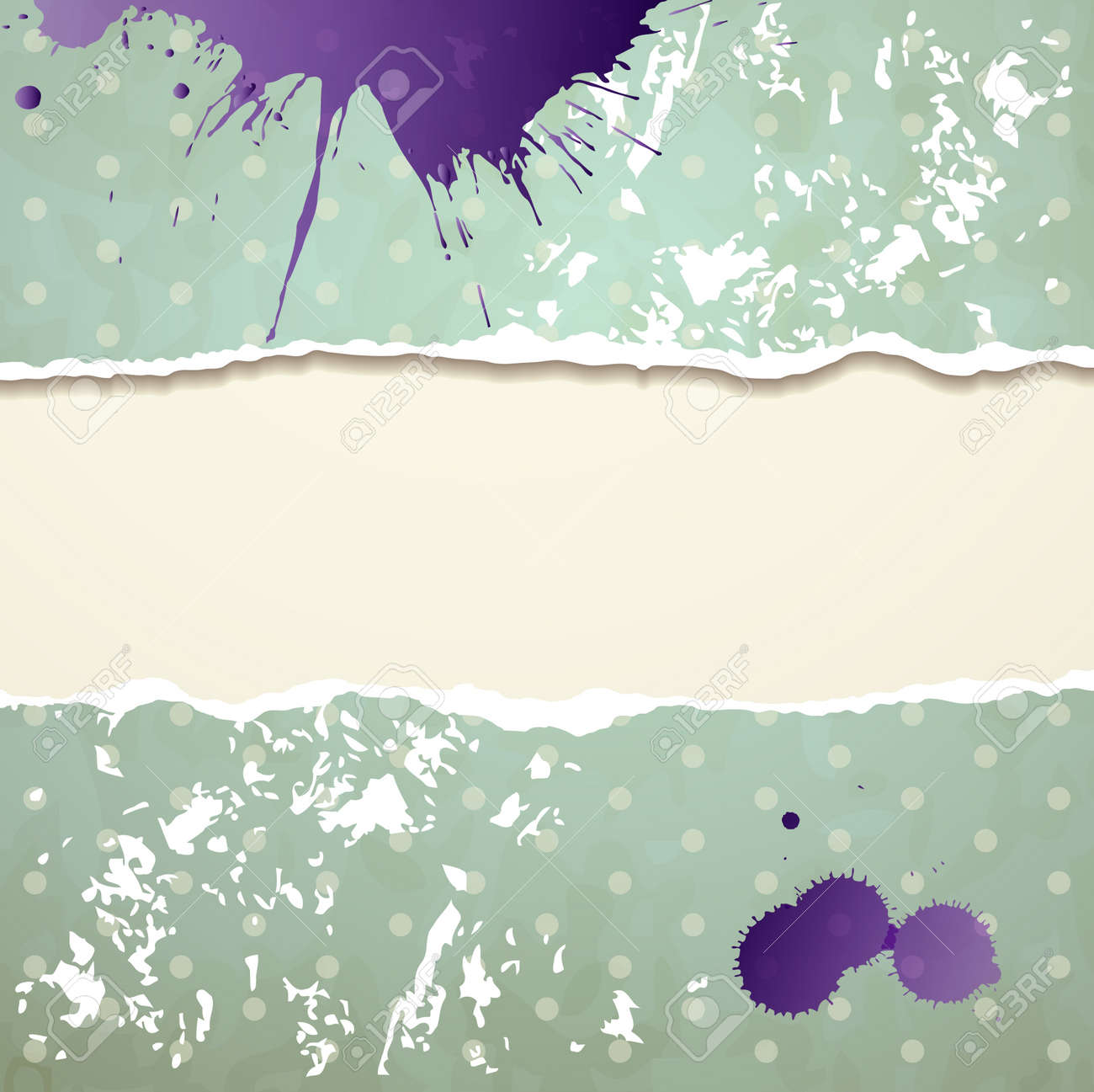 Tear paper on abstract  background Stock Vector - 13888034