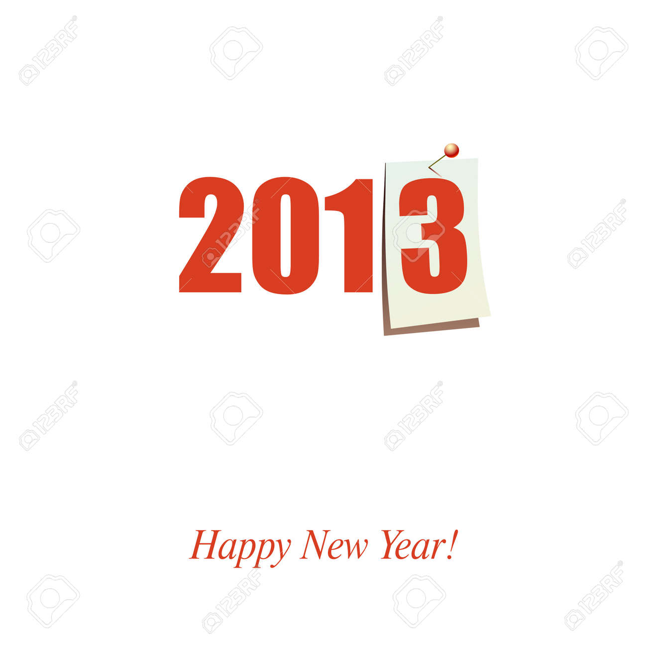 Happy New Year design card vector Stock Vector - 15062950