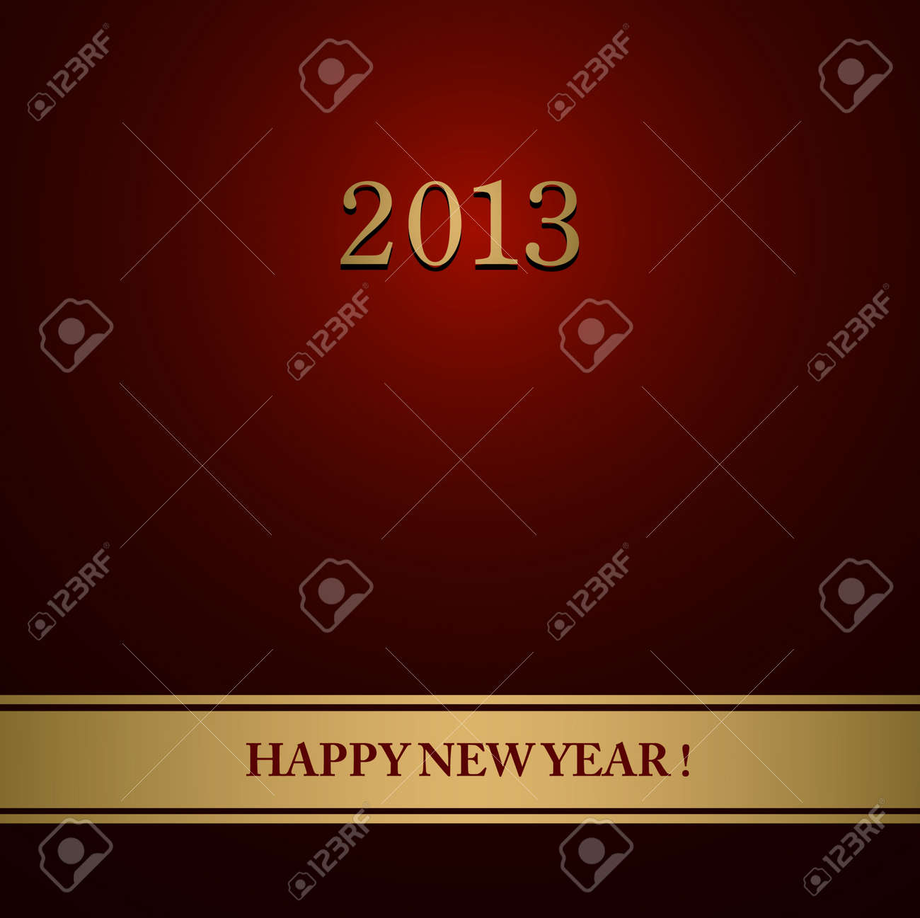 Happy New Year design card Stock Vector - 16548993