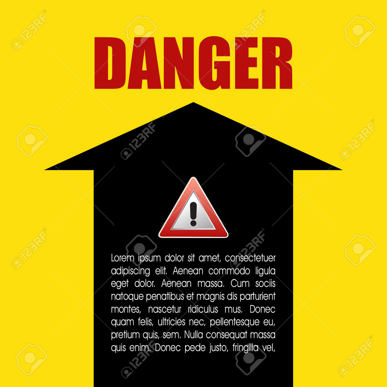 Danger prevention with sign and text Stock Vector - 16549030
