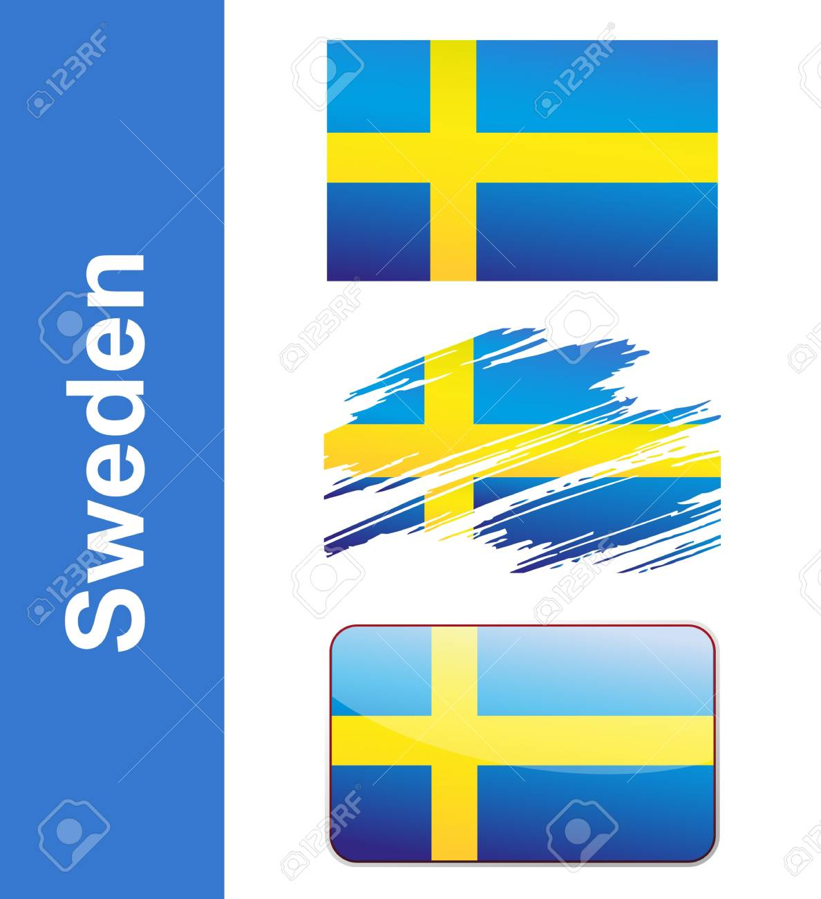 Flag Sweden isolated on white background Stock Vector - 17329169