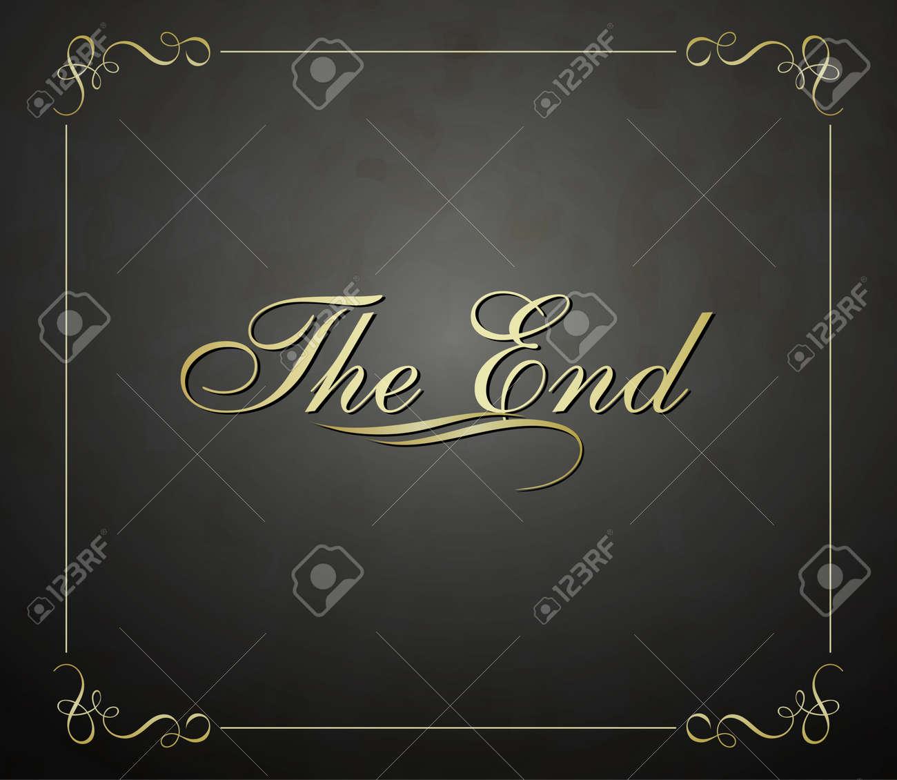 Movie ending  screen Stock Vector - 17329274
