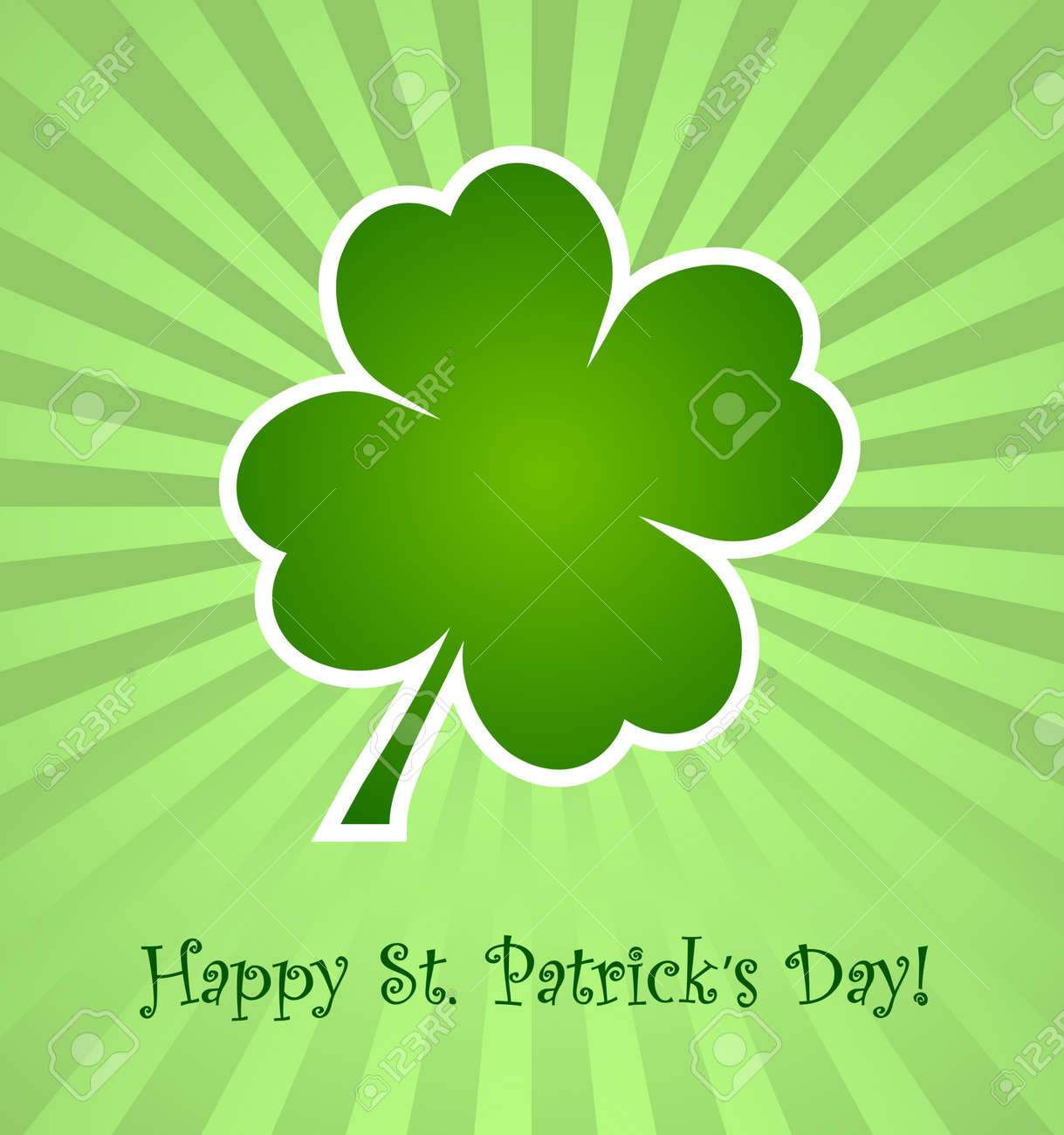 Clover leaf element background for happy St. Patricks Day Stock Vector - 17597302