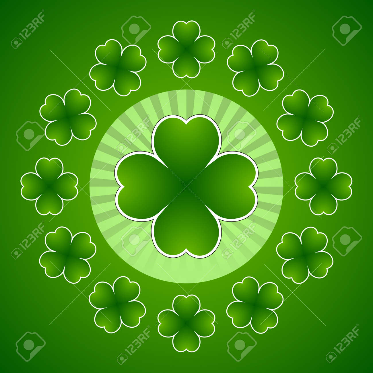 Clover leaf element background for happy St. Patricks Day Stock Vector - 17597307
