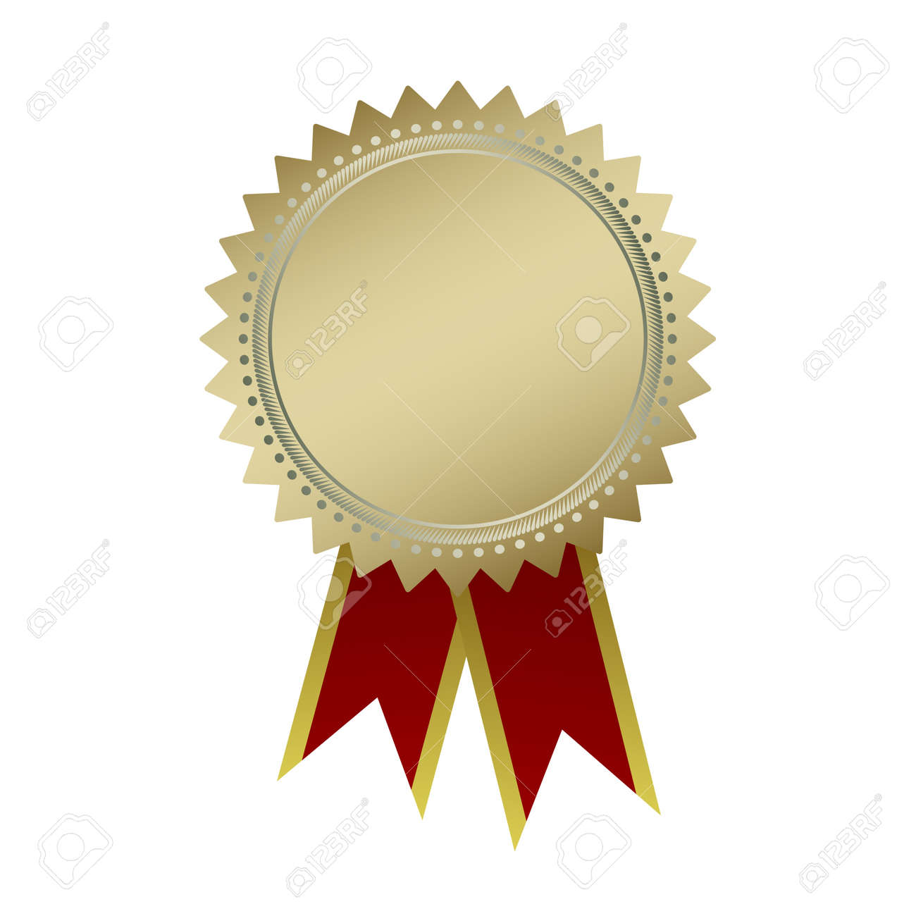 blank guarantee vector element sign certificate with ribbons royalty