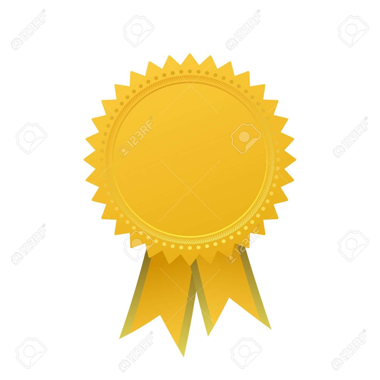 Blank Garantie Vektorelement Zeichen Zertifikat Mit Bändern ...