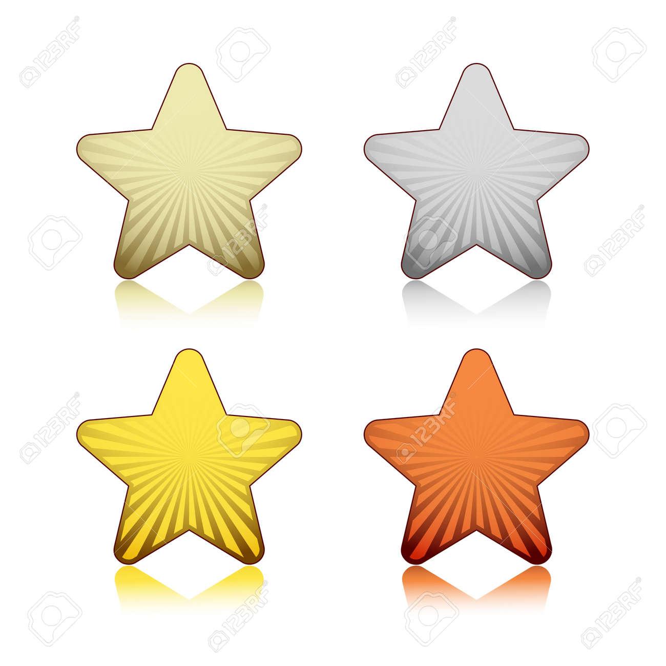 Rating stars Stock Vector - 18214209