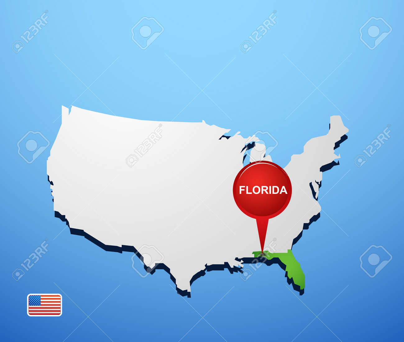 Outline Map Of Florida With Florida Free Maps Free Blank Base Maps - Florida on us map