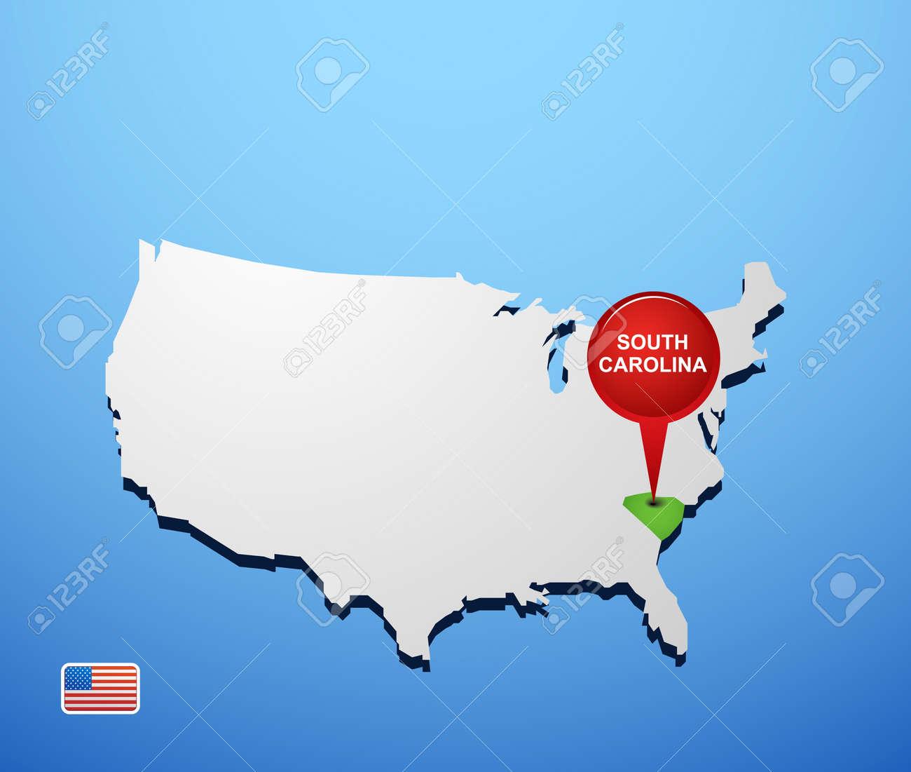 South Carolina Map Map Of South Carolina Detailed SC Map - Map of usa showing south carolina