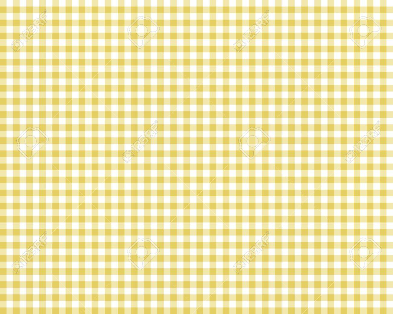 Attirant Vector   Yellow Checkered Picnic Tablecloth, Abstract Background
