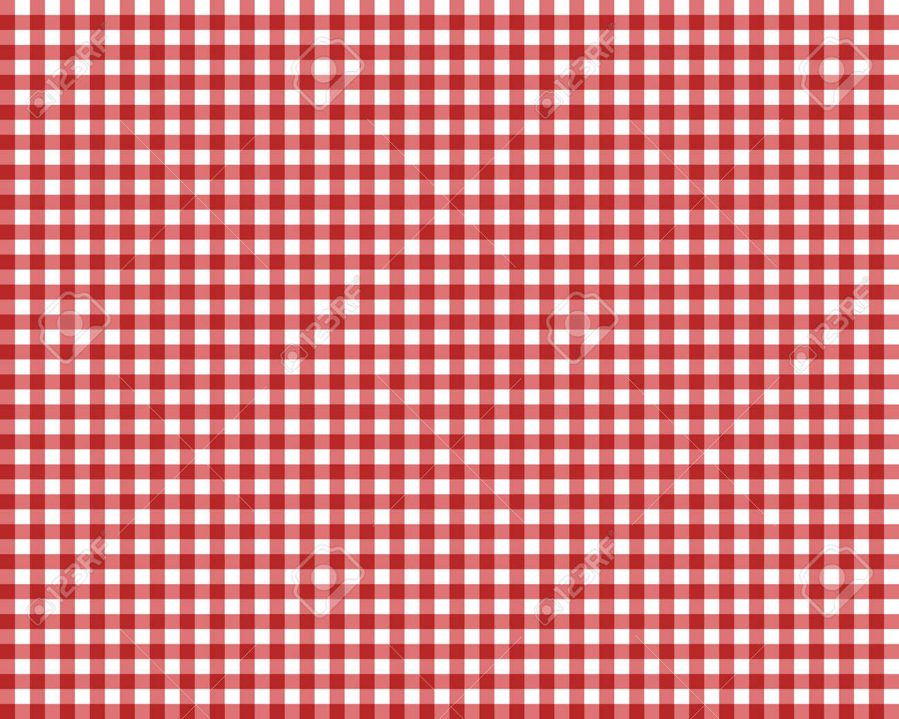 Genial Red Checkered Picnic Tablecloth