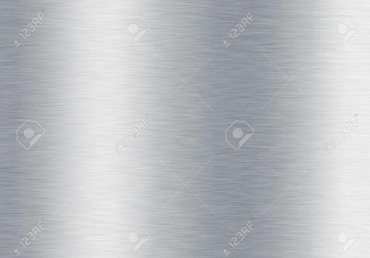 brushed silver metallic background Stock Photo - 6179729