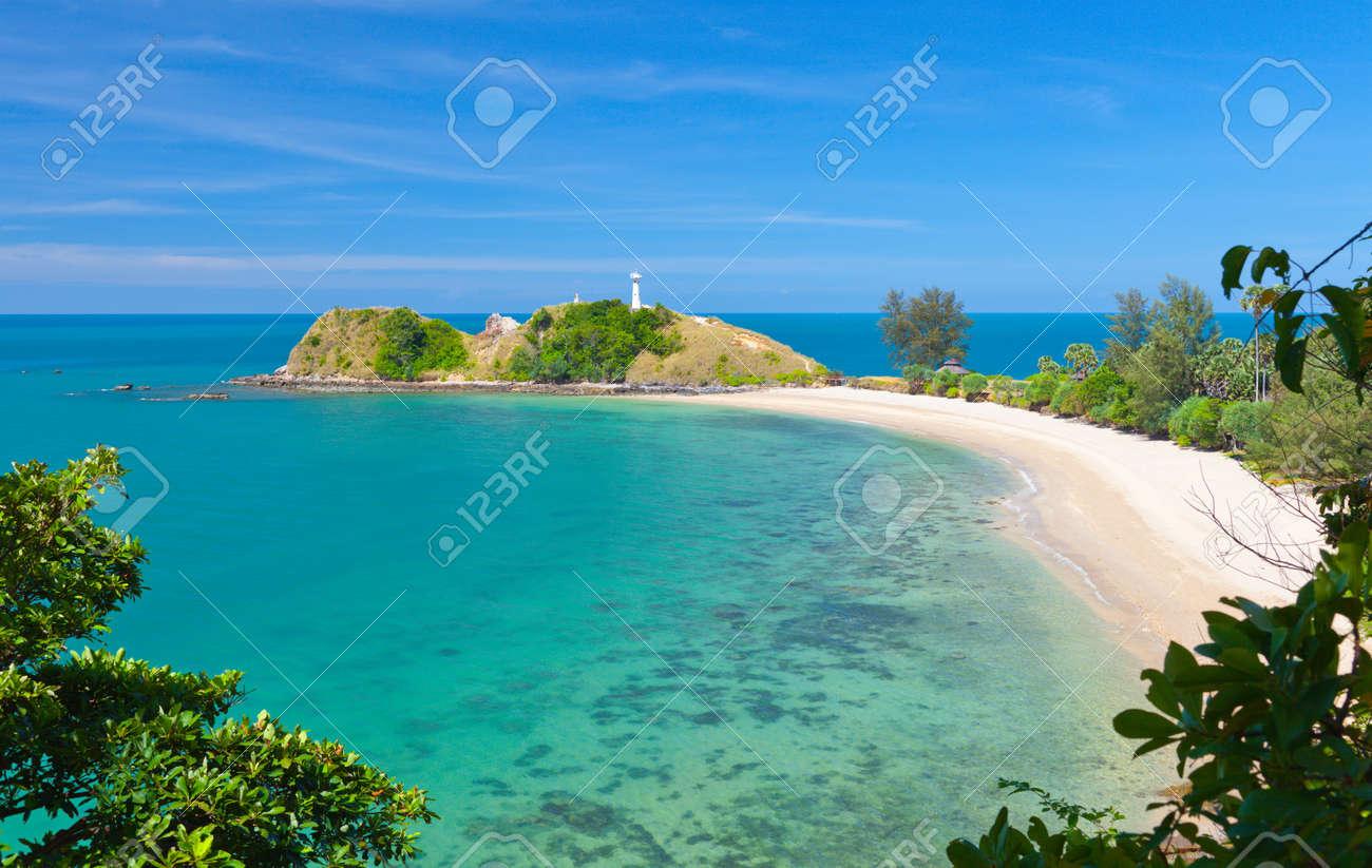 Lighthouse and beach. National Park of Koh Lanta, Krabi, Thailand - 11984039