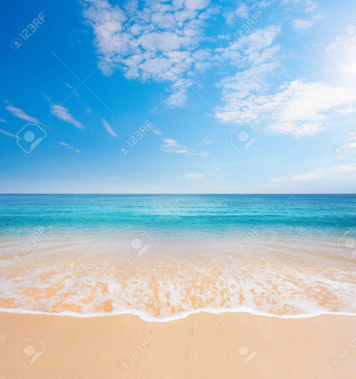 beach and tropical sea - 34824487