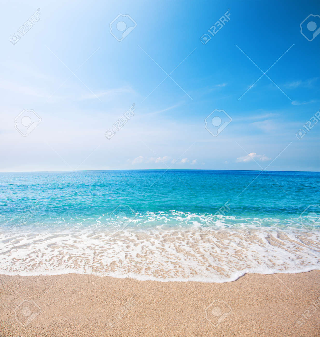 beach and beautiful tropical sea - 52698330
