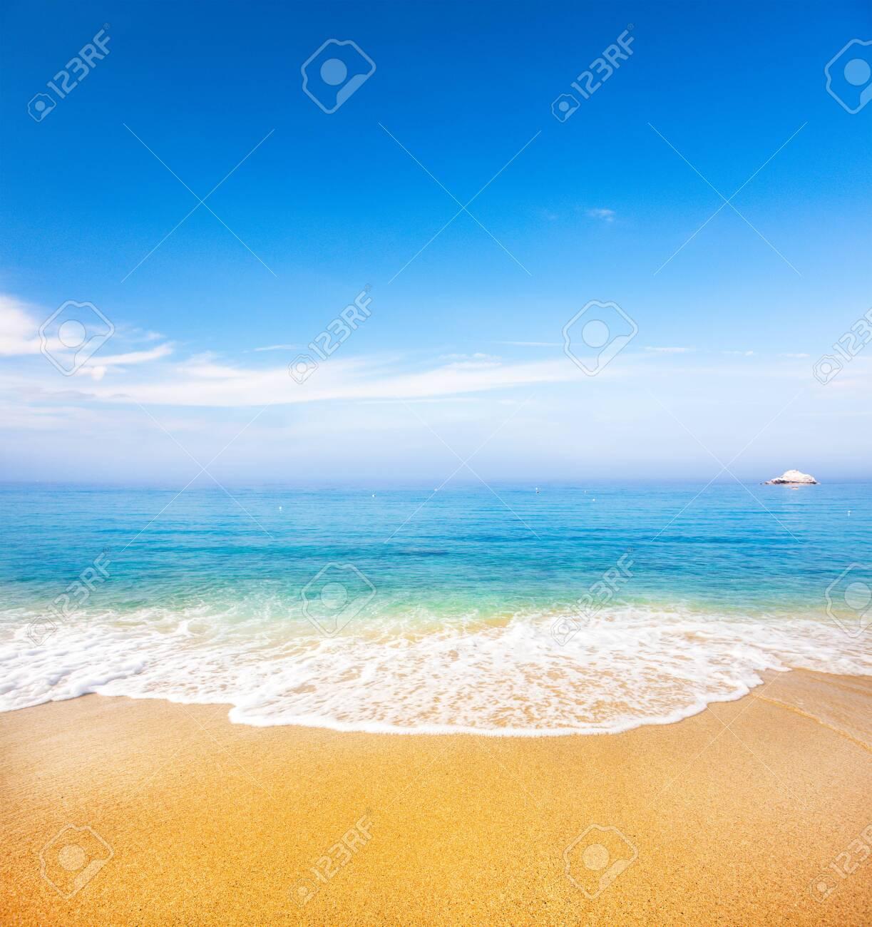 beautiful tropical beach and sea - 141290495