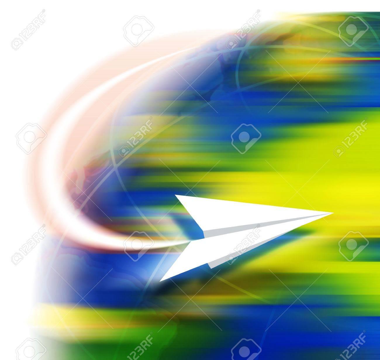 Travel by Paper aeroplane Stock Photo - 358225