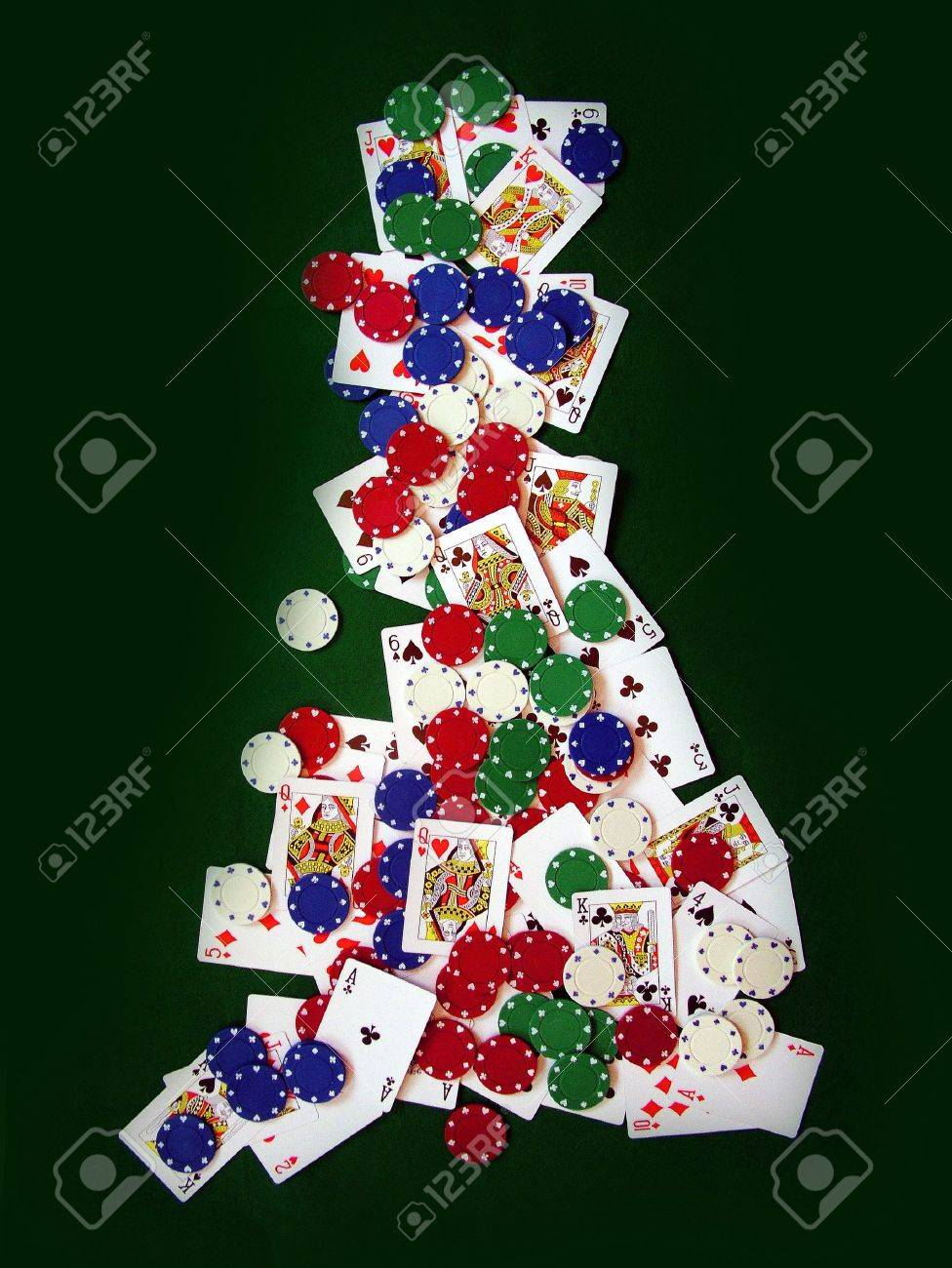 Playing Cards and Poker Chips in Shape of United Kingdom Stock Photo - 377786