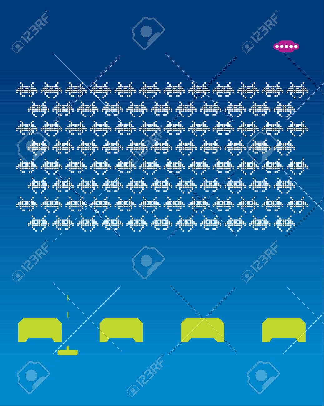 Space Invaders Stock Vector - 718260