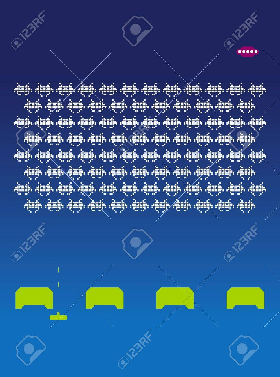 Space invaders Stock Photo - 719434