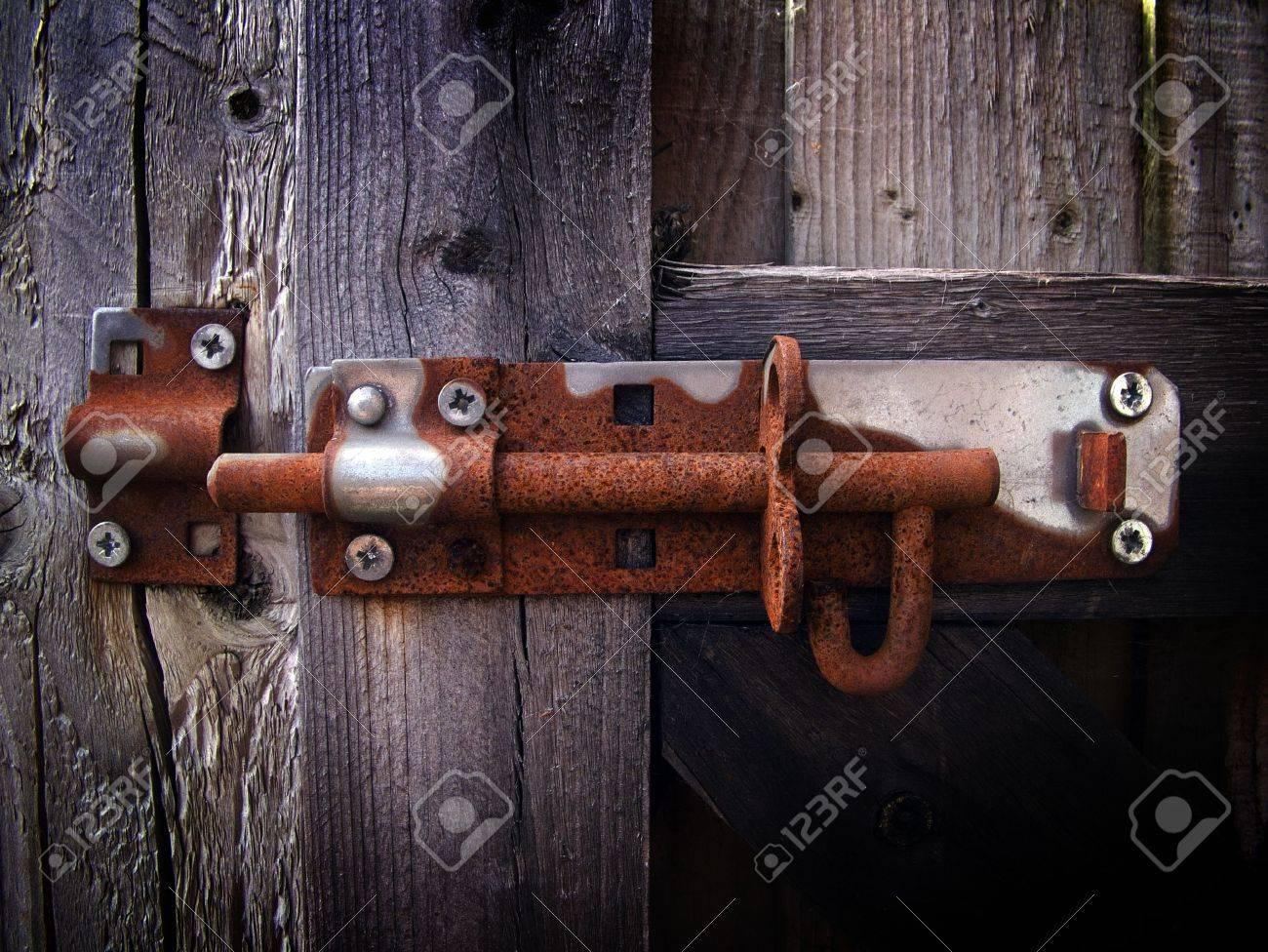 Rusty bolt lock Stock Photo - 3363739