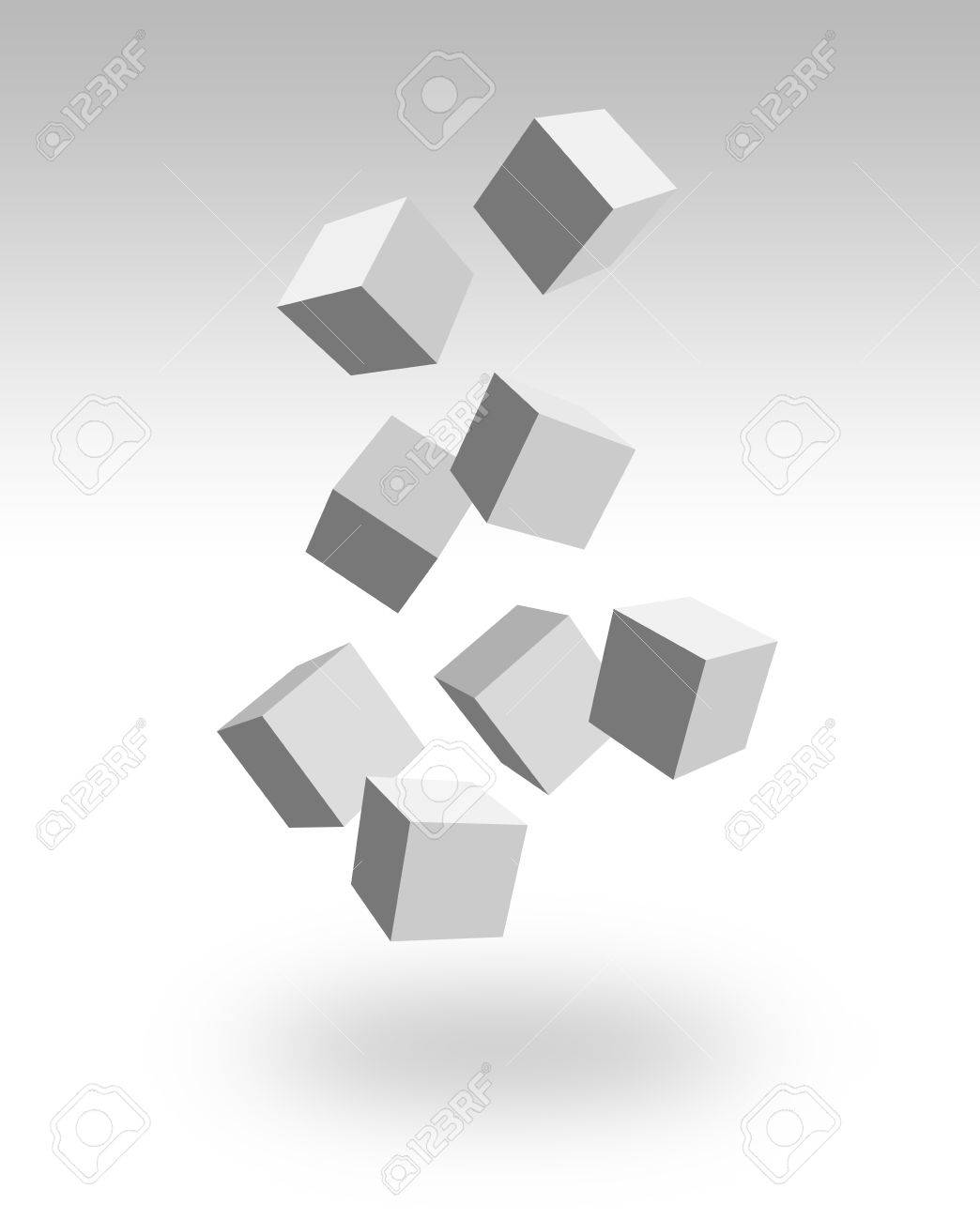 falling boxes Stock Photo - 9256065