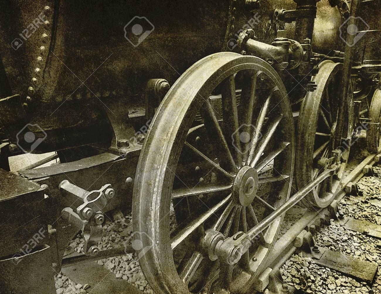 vintage locomotive photograph Stock Photo - 13233803