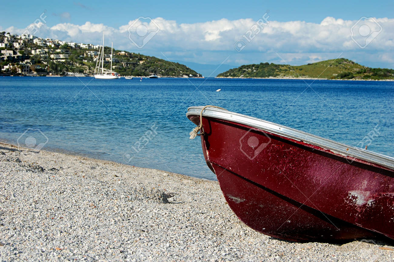 Boat on the Beach, Bodrum, Turkey Stock Photo - 8621424
