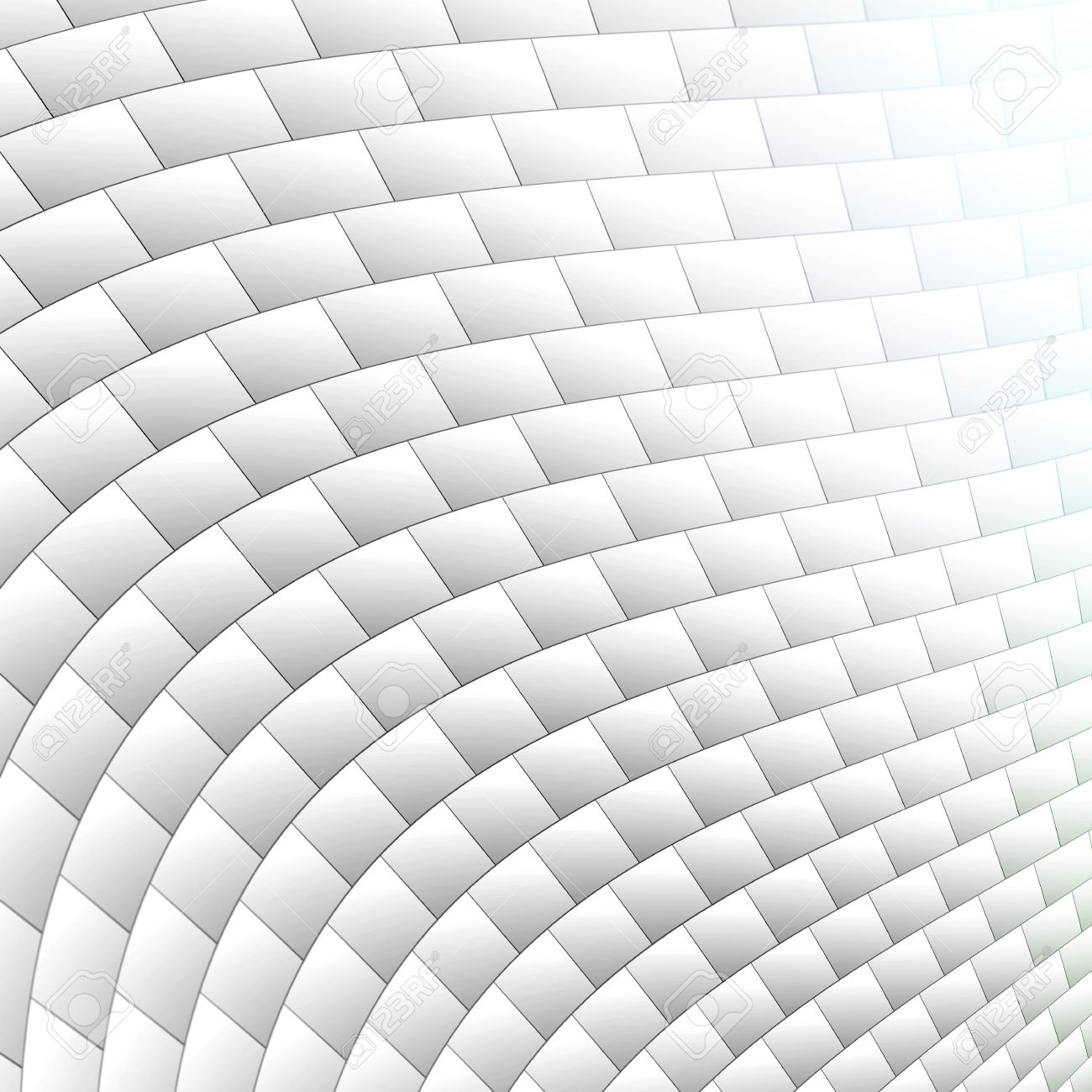 3D White Brick Wall Texture With Curve And Light Effects Stock ...