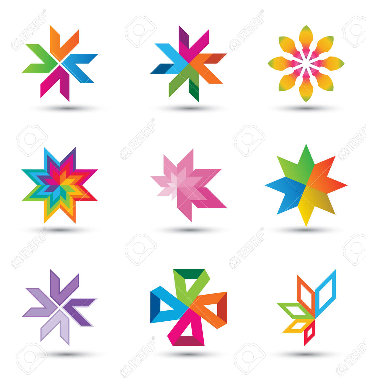 a very modern, fresh and trendy design element set for your corporate, web and print designs, fully editable. Stock Vector - 9865893