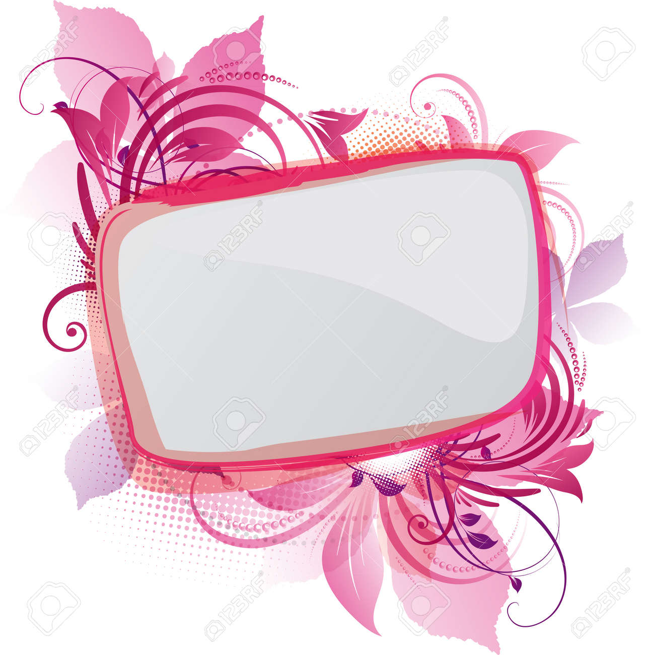 art of a pink floral background with copy space Stock Vector - 10280752