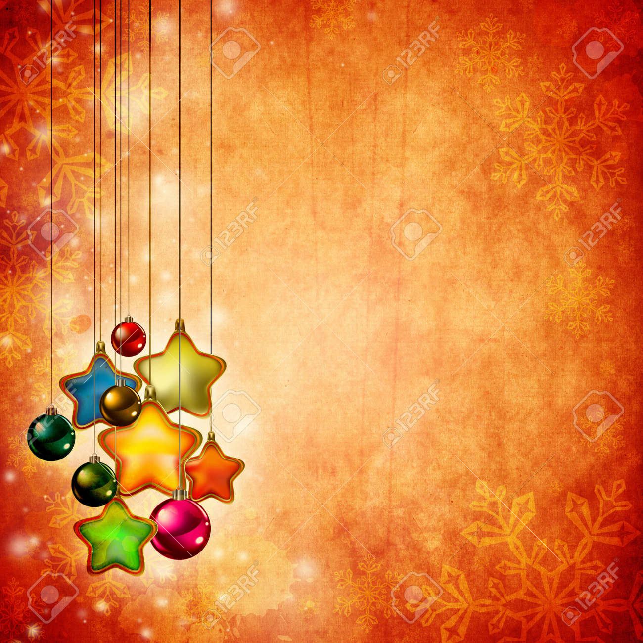 Vintage Christmas background design with copy space for your text and images, very high resolution available. Stock Photo - 10466122