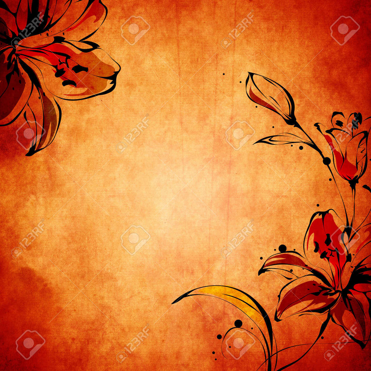 Vintage paper background with grunge and decorative details Stock Photo - 10529837