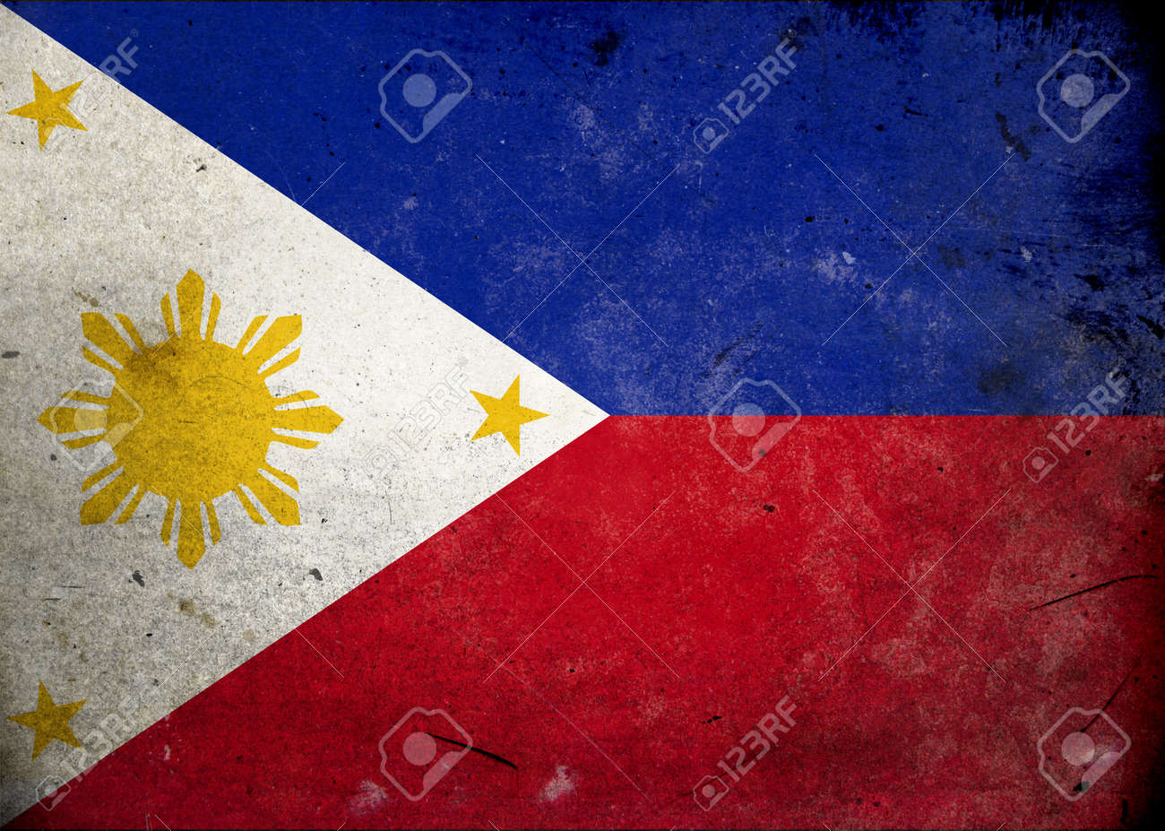 Flag of Philippines on old and vintage grunge texture Stock Photo - 12036981