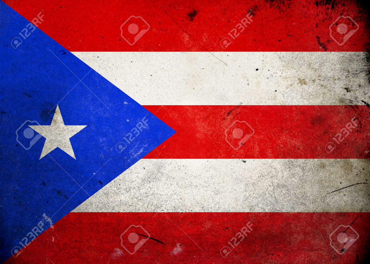 Flag of Puerto Rico on old and vintage grunge texture Stock Photo - 12036976