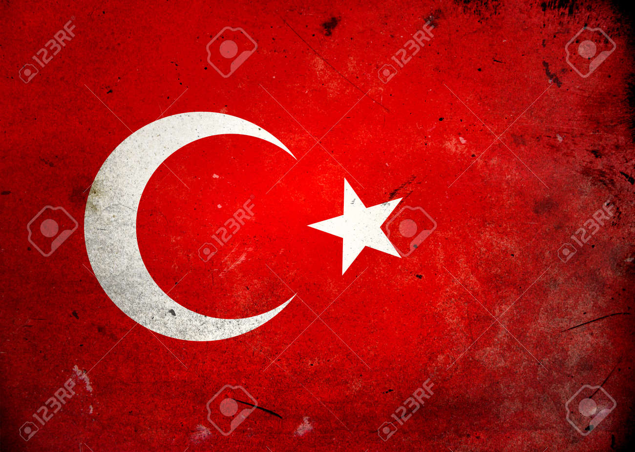 Flag of Turkey on old and vintage grunge texture Stock Photo - 12036955