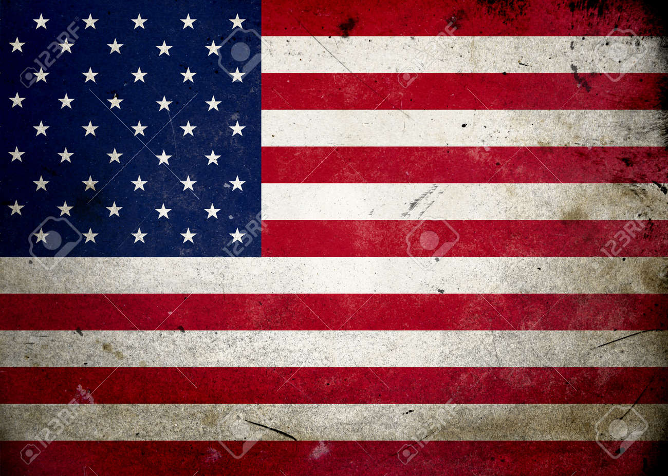 Flag of the USA on old and vintage grunge texture Stock Photo - 12036967
