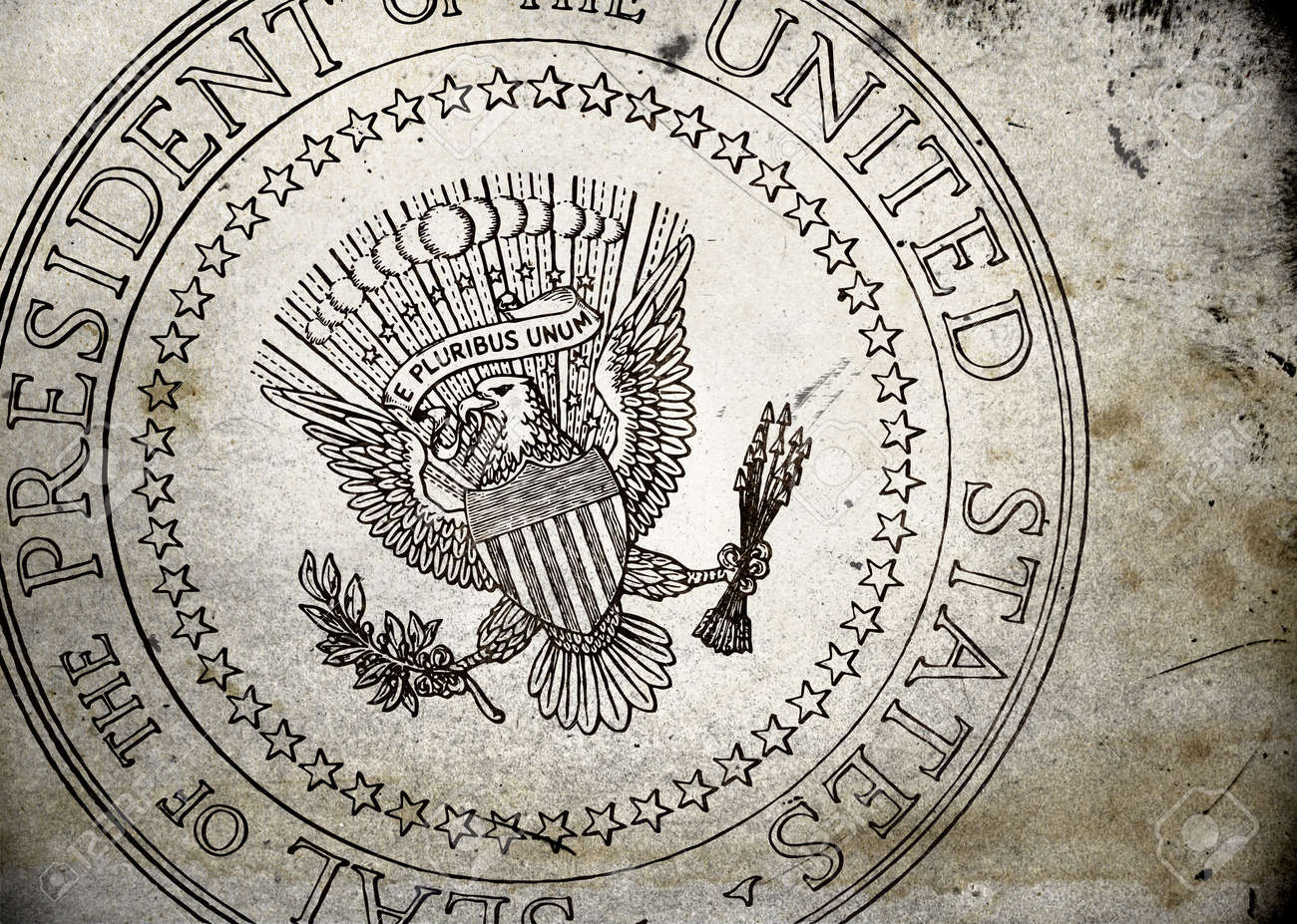 Presidential Seal of the USA on old and vintage grunge texture Stock Photo - 12135447
