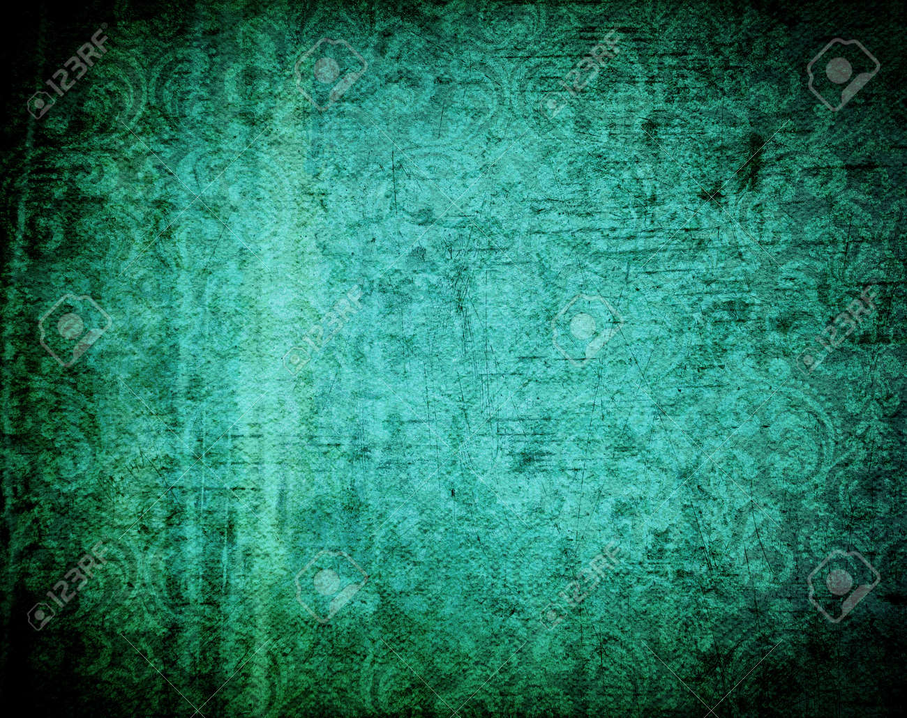 Beautiful grunge background with light effect and floral designs Stock Photo - 14973206