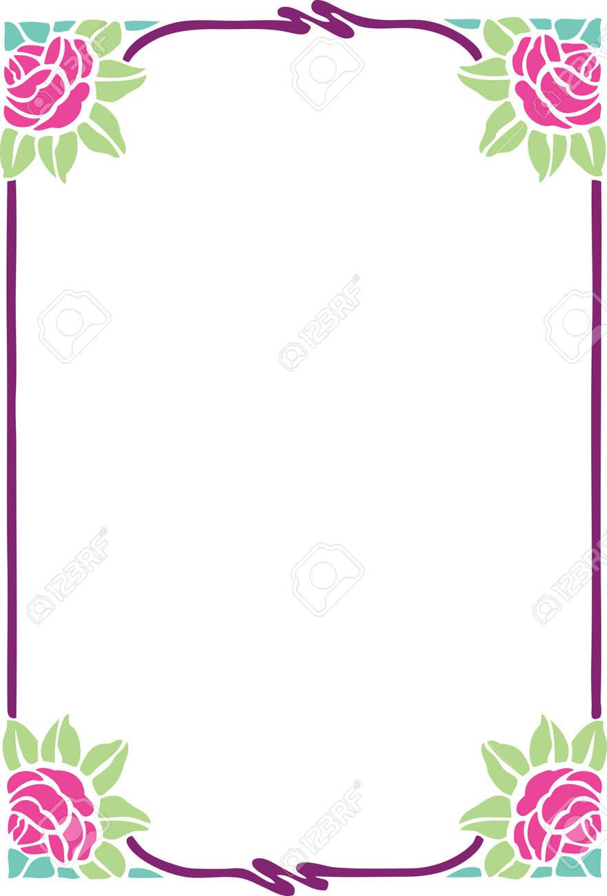 floral frame designs photo beautiful decorative floral frame art nouveau design element