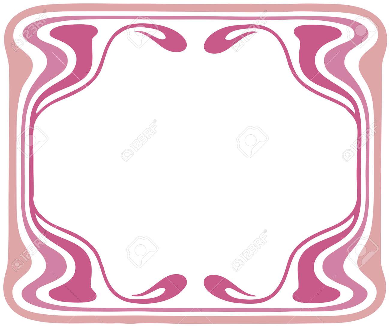 Beautiful decorative floral frame, art nouveau design element Stock Vector - 16104270
