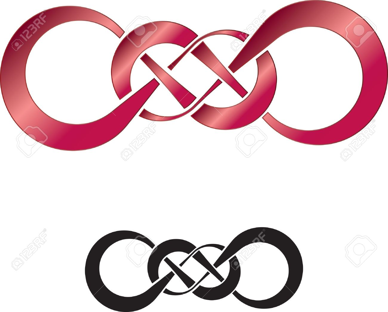 Abstract design of double infinity, perfect as a tattoo Stock Vector - 17433108