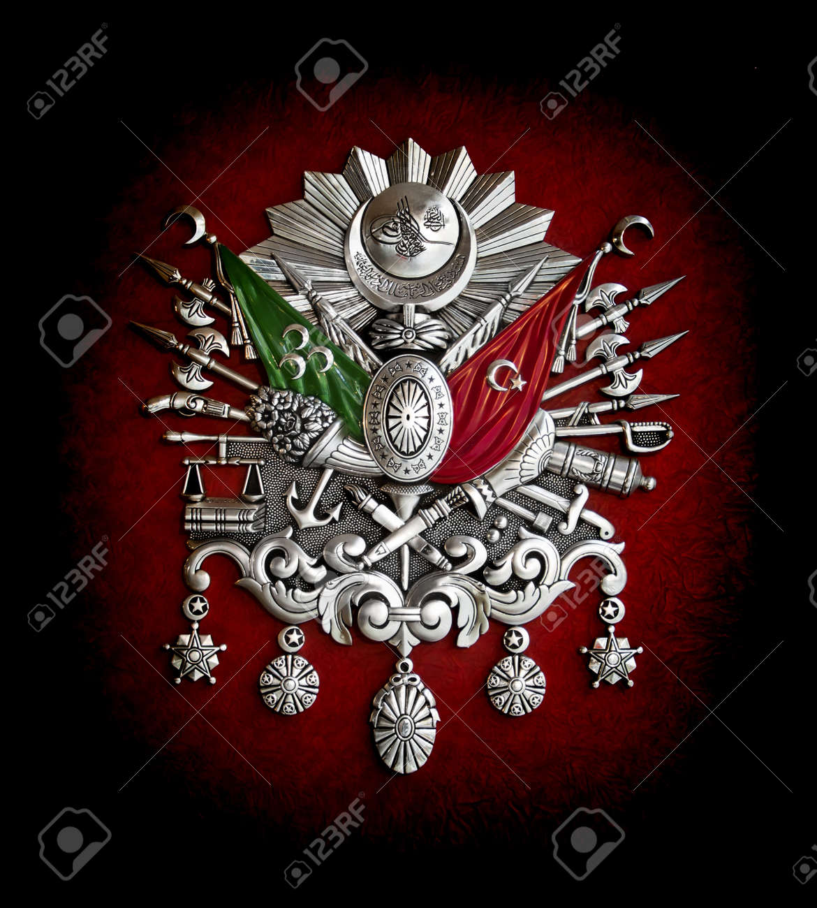 Ottoman Empire coat-of-arms symbol Stock Photo - 18817474