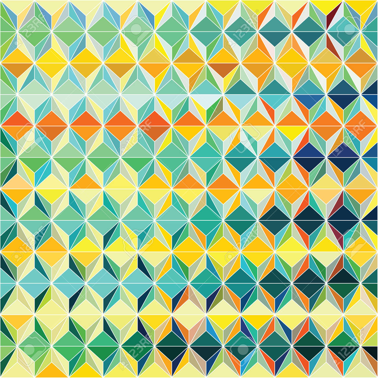 Funky vector pattern design with colorful triagular composition Stock Vector - 25977886