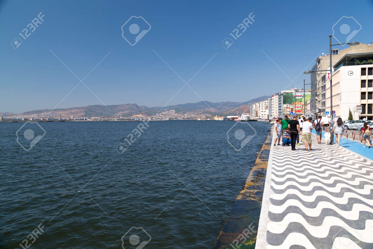 A View From Kordon Coastal Walking Path In Izmir Turkey Izmir Stock Photo Picture And Royalty Free Image Image 59169878